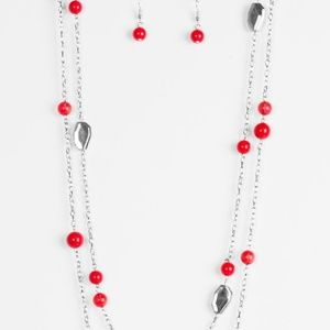 Hitting a Glow Point - Red Necklace